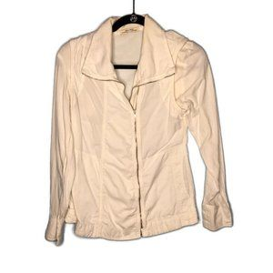 Prairie Underground Side Zip Ivory Cotton Shirt